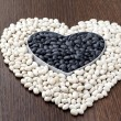 Heart made of beans — Stock Photo