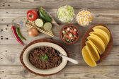 Ground beef tacos preparation — Foto de Stock