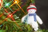 Hanging snowman — Stock Photo