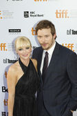 Anna faris and chris pratt at tiff 2011 — Stock Photo