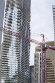Red construction crane — Stock Photo