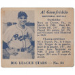 Stock Photo: Al gionfriddo baseball card