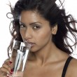 Stockfoto: Asian woman drinking water