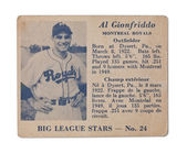 Al gionfriddo baseball card — Stock Photo
