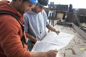 Mimarlar iş planı arıyorum — Stok fotoğraf