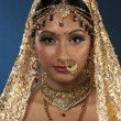 Beautiful young indian bride — Stock Photo #17163521