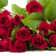 Stock Photo: Fresh red rose bouquet