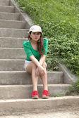 Beautiful girl teenager — Stock Photo