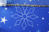 Floral shape on christmas gift box — Stockfoto