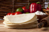 Folded tortillas — Stock Photo