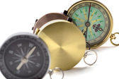 Four different compass — Stock Photo