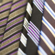 Stock Photo: Full frame of stripped ties