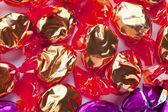 Golden and purple shiny hard candies — Foto de Stock