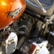 Harley davidson motorcycle detail — Stock Photo
