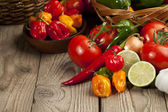 Mexican herbs and vegetables — Stock Photo