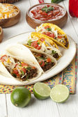Mexican tacos on plate — Foto de Stock