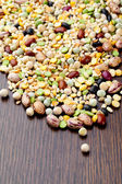 Mixture of different kinds of beans — Stock Photo