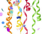 Numerous streamers and confetti — Stock Photo