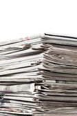 Old newspapers for recycle — Stock Photo