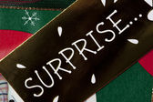 Detailed image of surprise placard — Stock Photo