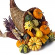 Stock Photo: Fall cornucopia