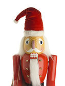 Figurine of santa claus against white background — Stock Photo
