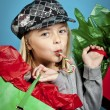 Little girl shopping — Stock Photo #17430625