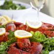 Lobster dish and wine — Stock Photo #17431029
