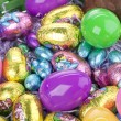 Macro shot of easter eggs — Stock Photo