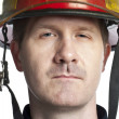 Male fire fighter — Stock Photo