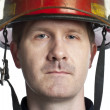 Stock Photo: Male firefighter