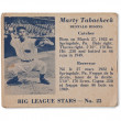 Marty tabacheck baseball card — Stock Photo #17435271