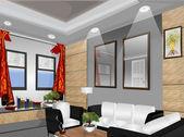 Oturma odası vektör — Stok fotoğraf