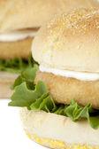 Immagine macro di hamburger di pollo — Foto Stock