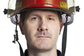 Male firefighter — Stock Photo