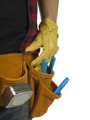 Man with toolbelt — Stock Photo