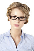 Portrait of a beautiful young businesswoman — Stock Photo