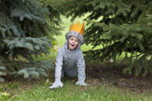 Little boy with his fancy dress costume — Stock Photo