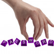 Keys spelling the word password — Stock Photo