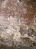 A destroyed brick wall — Stock Photo