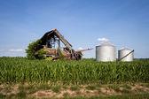 Feed-silos — Stockfoto
