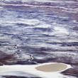 Stock Photo: Salt and Land Craters