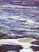 Salt and Land Craters — Stock Photo