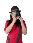 Tirando uma foto — Foto Stock