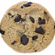 Chocolate chips cookie top view image — Stock Photo