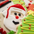 Christmas biscuit  close up - Stock Photo