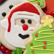 Christmas cookies and colorful candies - Stock Photo