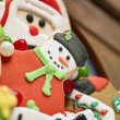Colorful candies and christmas cookies - Stock Photo
