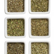 Different kinds of tea leaves — Stok fotoğraf