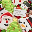 Gingerbread cookies decorations - 图库照片